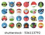 vector set of stylish ... | Shutterstock .eps vector #536113792