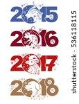 goat 2015. monkey 2016. rooster ...   Shutterstock .eps vector #536118115