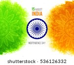 creative indian independence... | Shutterstock . vector #536126332