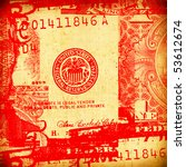 close up of abstract us dollar | Shutterstock . vector #53612674