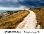rural pathway along the coast... | Shutterstock . vector #536130676