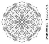 eastern ethnic mandala. round...   Shutterstock .eps vector #536130976