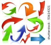 arrow icon set   Shutterstock .eps vector #53614321
