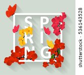 floral bright spring background ... | Shutterstock .eps vector #536143528
