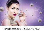 beautiful woman with dark... | Shutterstock . vector #536149762