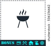 roaster bbq icon flat. simple... | Shutterstock .eps vector #536156662