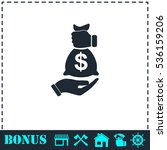 bribe icon icon flat. simple... | Shutterstock .eps vector #536159206
