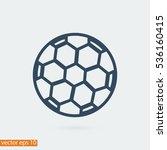 soccer ball icon  vector best... | Shutterstock .eps vector #536160415