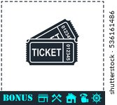 ticket icon flat. simple vector ... | Shutterstock .eps vector #536161486