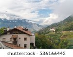 valley near merano  in the... | Shutterstock . vector #536166442
