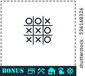 Tic Tac Toe Game Icon Flat....