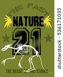 nature dinosaur beast t shirt... | Shutterstock .eps vector #536171035