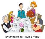 family thanksgiving   vector | Shutterstock .eps vector #53617489