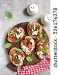 italian bruschetta with... | Shutterstock . vector #536176378