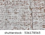 Red White Wall Texture. Old...