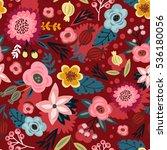 floral pattern | Shutterstock .eps vector #536180056