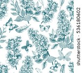 seamless floral pattern with... | Shutterstock . vector #536180602