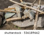 Stone Ax With Wooden Handle...