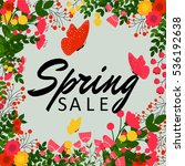 colorful spring sale vector... | Shutterstock .eps vector #536192638