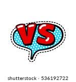 versus letters or vs logo... | Shutterstock .eps vector #536192722