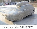 car covered by ice at the... | Shutterstock . vector #536192776