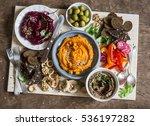 Vegetarian Snack Table. Pumpki...