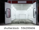 spray paint cabinet in a car... | Shutterstock . vector #536200606