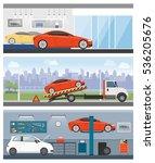 car dealership  roadside...   Shutterstock .eps vector #536205676