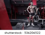 strong athletic man fitness...   Shutterstock . vector #536206522