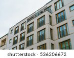 modern apartment house with... | Shutterstock . vector #536206672