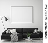 mock up poster frame in hipster ... | Shutterstock . vector #536214562