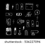 simple set of batteries....   Shutterstock .eps vector #536227096