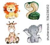 Stock photo cute animals for kindergarten nursery children clothing pattern 536238352