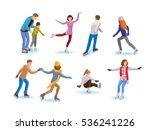 vector set of various people... | Shutterstock .eps vector #536241226