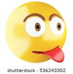 3d illustration. emoji icon... | Shutterstock . vector #536243302