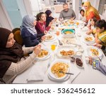 muslim traditional family... | Shutterstock . vector #536245612