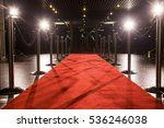 long red carpet between rope... | Shutterstock . vector #536246038