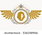 heraldic sign made using vector ... | Shutterstock .eps vector #536248966