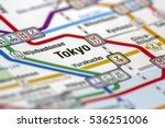 tokyo metro stations map with... | Shutterstock . vector #536251006