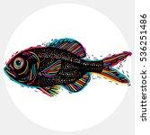 fish species  vector marine... | Shutterstock .eps vector #536251486