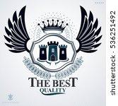 heraldic coat of arms made in... | Shutterstock .eps vector #536251492