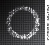 shining white circle frame with ... | Shutterstock .eps vector #536254525