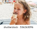 little boy eating an ice cream | Shutterstock . vector #536263096
