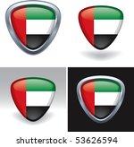 united arab emirates flag crest | Shutterstock .eps vector #53626594