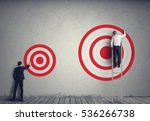 hitting bigger business target | Shutterstock . vector #536266738