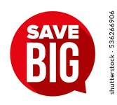 save big speech bubble vector | Shutterstock .eps vector #536266906