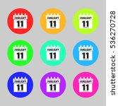 collection calendar icon vector....