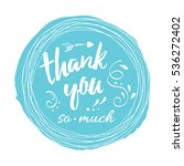 vector stamp with phrase thank...