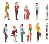people talking phone vector. | Shutterstock .eps vector #536278852