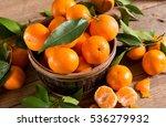 fresh picked mandarins | Shutterstock . vector #536279932
